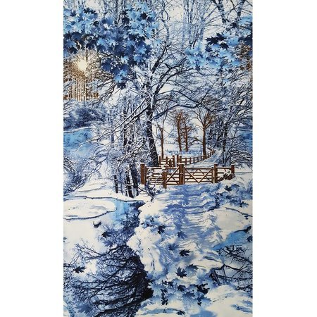 Timeless Treasures, Scenic Winter Forest Fabric Panel