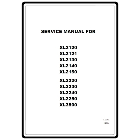 Service Manual, Brother XL2121