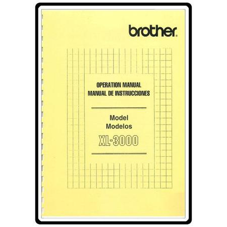 Instruction Manual, Brother XL3000