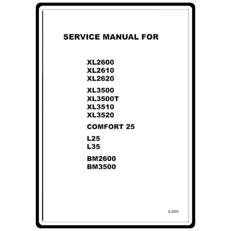 Service Manual, Brother XL3510
