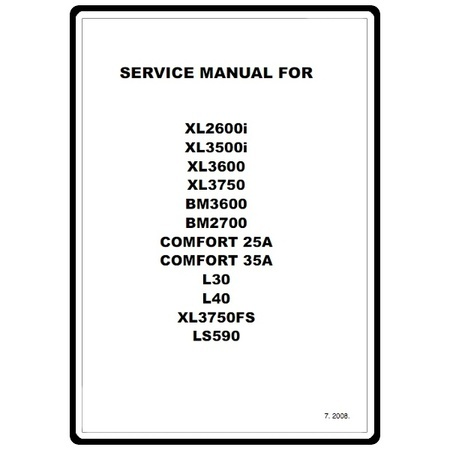 Service Manual, Brother XL3750FS