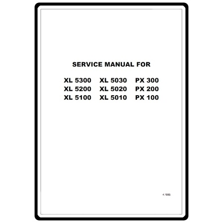 Service Manual, Brother XL5020