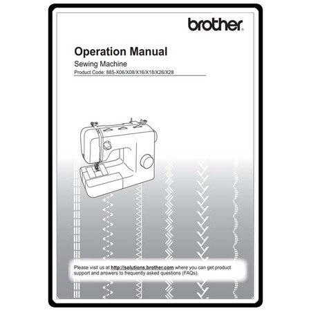 Instruction Manual, Brother XM-3700