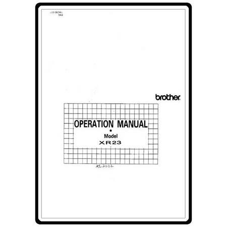 Instruction Manual, Brother XR-23