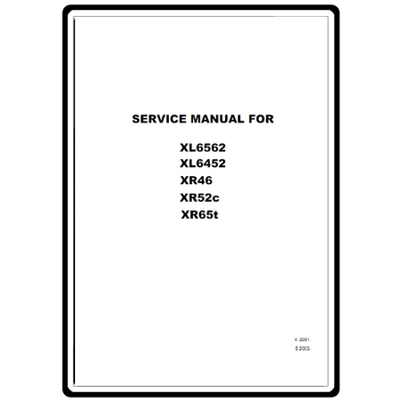 Service Manual, Brother XR65T
