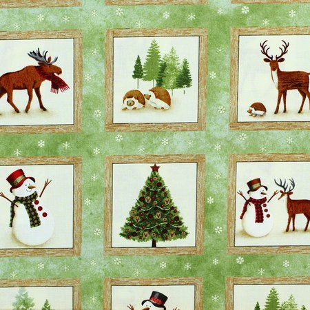 Winter's Friends, Woodland Creatures Fabric, P&B Textiles