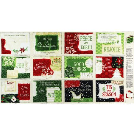 "Wilmington, Reason for the Season, Soft Book 25"" Fabric Panel"