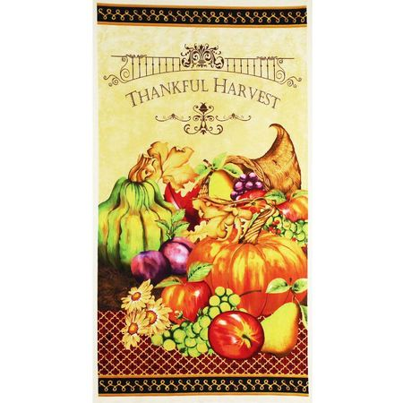"Wilmington, Thankful Harvest 24"" Fabric Panel"