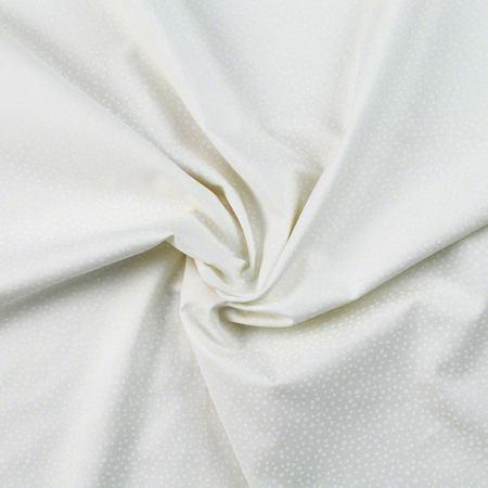 South Sea Prints, Tone on Tone Dots Fabric, White