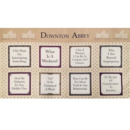 Downton Abbey The Dowager Fabric Panel, Beige