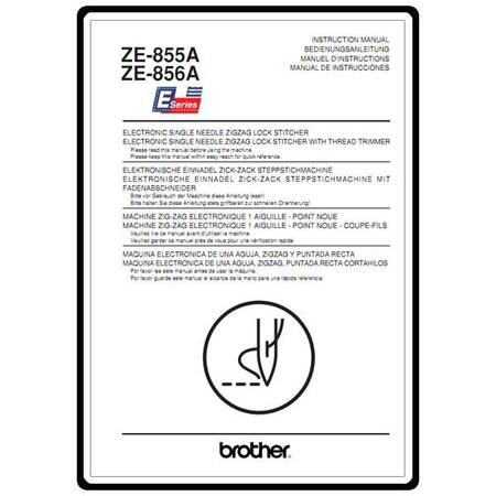 Instruction Manual, Brother ZE-855A