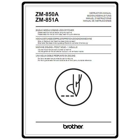 Instruction Manual, Brother ZM-851A