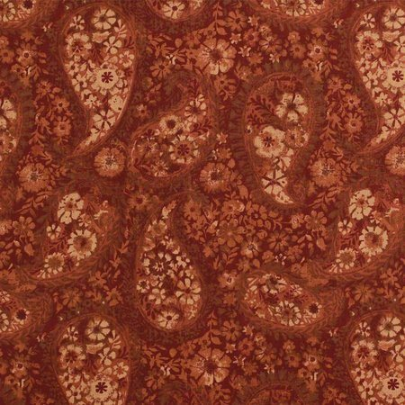 "108"" Quilt Backing, Floral Paisley, Rust"