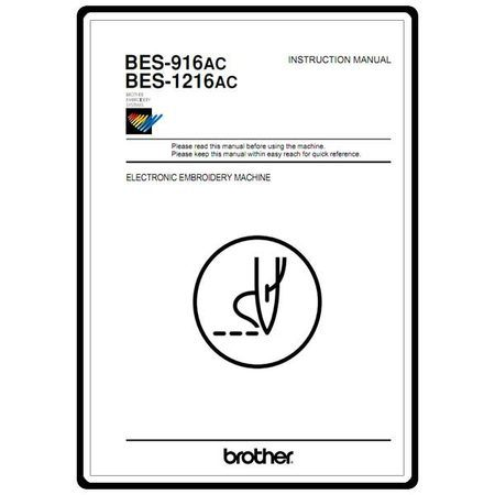 Instruction Manual, Brother BES-1216AC