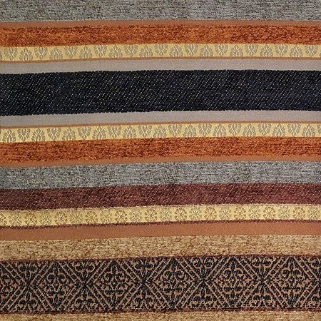 """53"""" Striped Upholstery Fabric - Brown"""