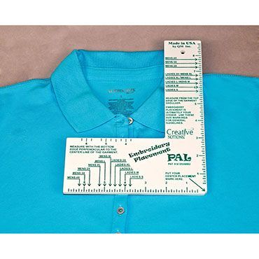 Embroidery Placement Ruler #CNEPR1