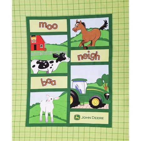John Deere Farm Animal Quilt Top Fabric Panel Sewing Parts Online