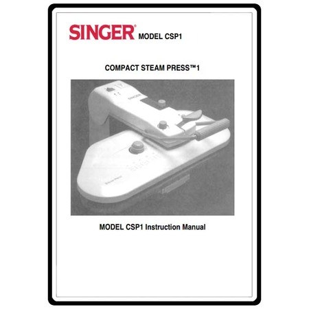 Instruction Manual, Singer CSP1