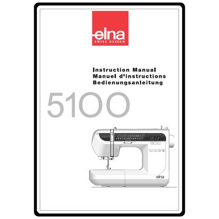 Instruction Manual, Elna 5100