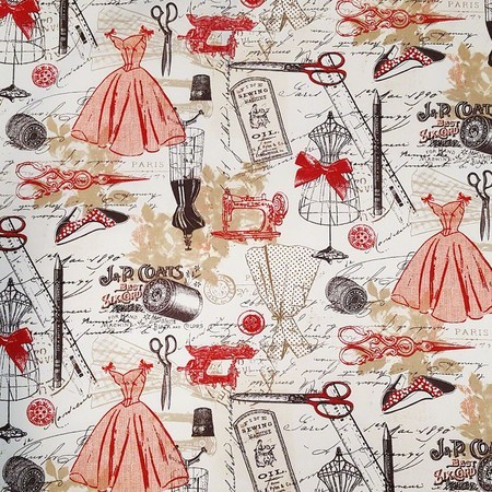 Timeless Treasures, Vintage Dressmaking Fabric