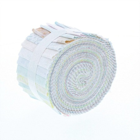 Komo Batiks Fabric Roll, Lights, Gallery Rolls