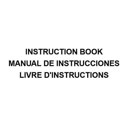 Instruction Manual, Janome HD1000