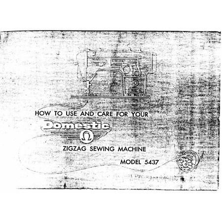 Instruction Manual, White 5437