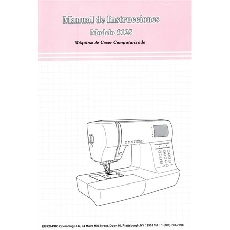Instruction Manual, Euro Pro 9125 Spanish Version