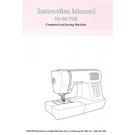instruction manual euro pro 9125 sewing parts online rh sewingpartsonline com Euro Coins Euro Currency