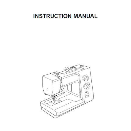 Instruction Manual, Janome Harmony 1017