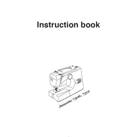 Instruction Manual, Janome 7306