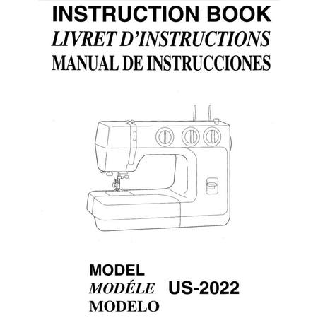 Instruction Manual, Janome US-2022