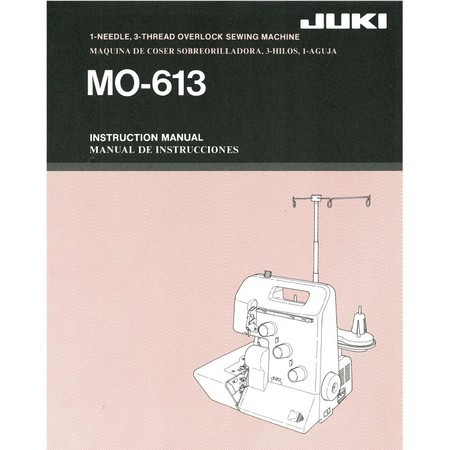 Instruction Manual, Juki MO-613