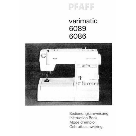 Instruction Manual, Pfaff 6089 Varimatic