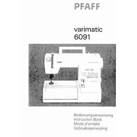 Instruction Manual, Pfaff 6091 Varimatic