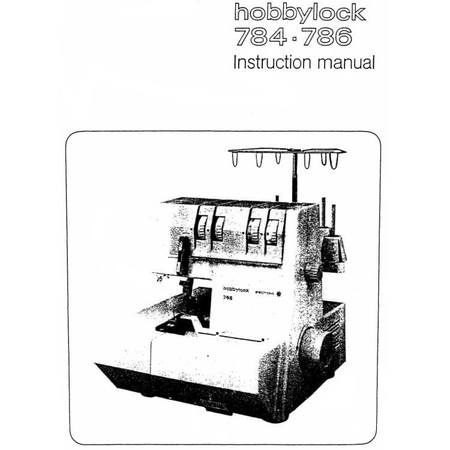 Instruction Manual, Pfaff Hobbylock 786