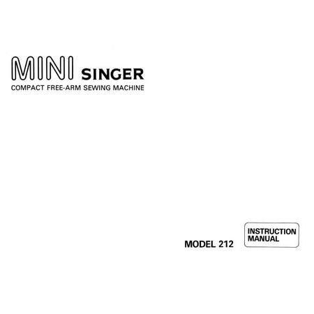 Instruction Manual, Singer 212