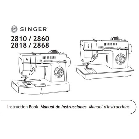 Instruction Manual, Singer 2818