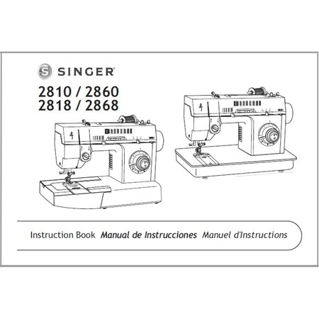 Instruction Manual, Singer 2860