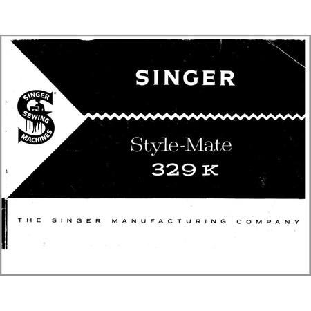 Instruction Manual, Singer 329K