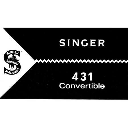Instruction Manual, Singer 431