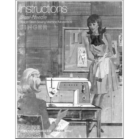 Instruction Manual, Singer 609