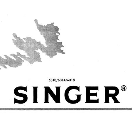 Instruction Manual, Singer 6310
