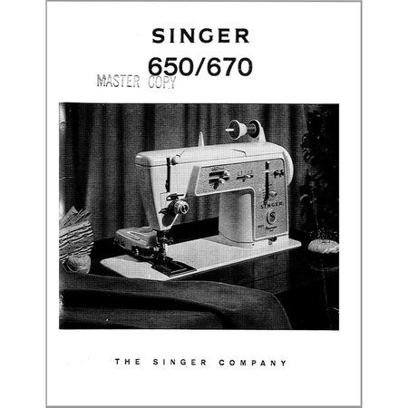 Instruction Manual, Singer 650