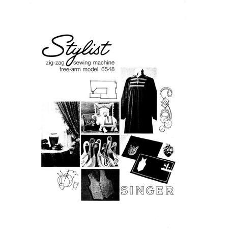 Instruction Manual, Singer 6548