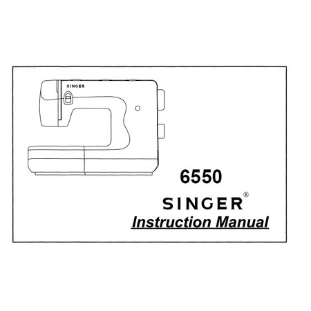 Instruction Manual, Singer 6550
