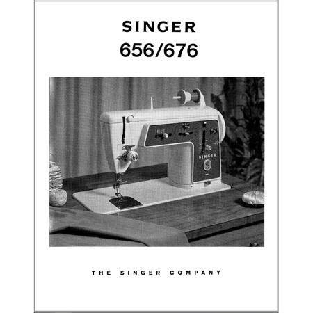 Instruction Manual, Singer 656