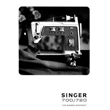 Instruction Manual, Singer 700