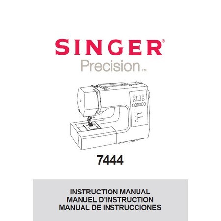Instruction Manual, Singer 7444