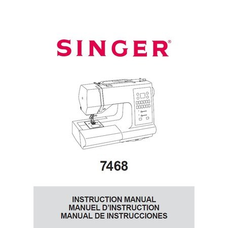 Instruction Manual, Singer 7468